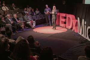 Marcy Madrid, VP of marketing and planning for Midland Health, speaks and answers questions  04/04/19 at her TEDx Midland Talk at Midland Community Theater. Tim Fischer/Reporter-Telegram