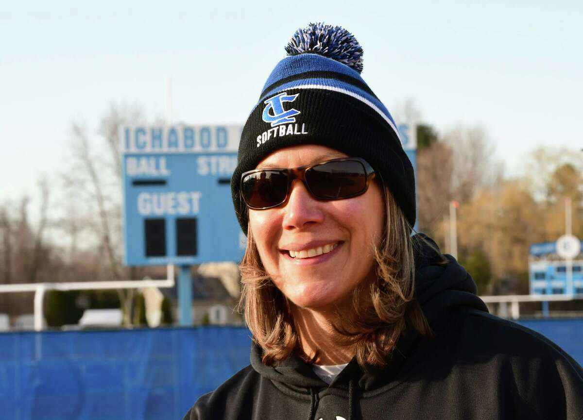 Ichabod Crane coach Tracy Natransky earns career win No. 300 in a softball game against Holy Names on Thursday, April 4, 2019 in Valatie, N.Y. (Lori Van Buren/Times Union)