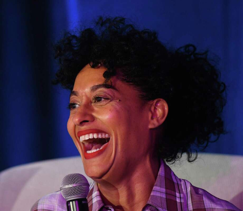 "Actress, producer and activist Tracee Ellis Ross delivers the keynote conversation at Fairfield County's Community Foundation Fund for Women & Girls annual luncheon at the Hyatt Regency in Old Greenwich, Conn. Thursday, April 4, 2019. Ross is known for her lead role on ABC's ""black-ish"" and has won a Golden Globe along with several NAACP Image Awards for her work. Photo: Tyler Sizemore / Hearst Connecticut Media / Greenwich Time"