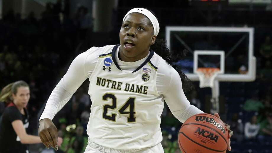 Notre Dame's Arike Ogunbowale. Photo: Kiichiro Sato / Associated Press / Copyright 2019 The Associated Press. All rights reserved