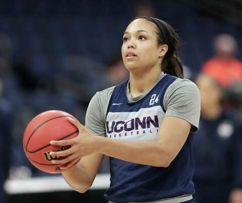 new concept 9f5b3 95374 ... Thursday, April 4, 2019.  p UConn s Napheesa Collier takes a shot during  a practice session Thursday at the