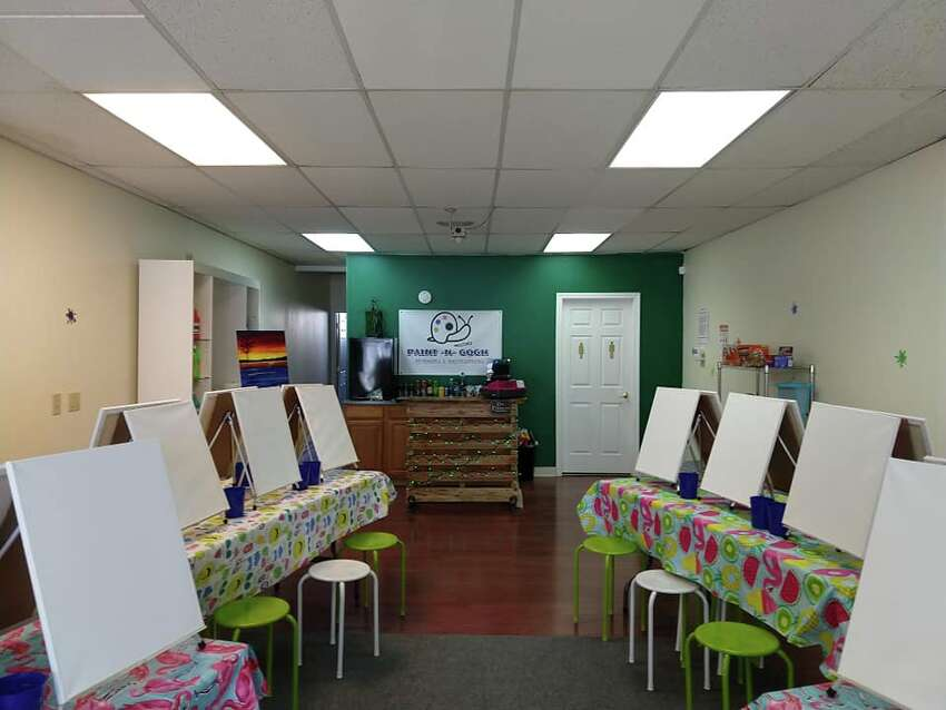 The interior of Paint-n-Gogh in Ballston Spa, N.Y.