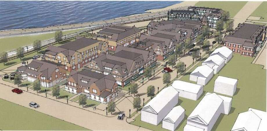 A rendering of the Atlantic Wharf development to be constructed in Branford. Photo: Contributed Photo