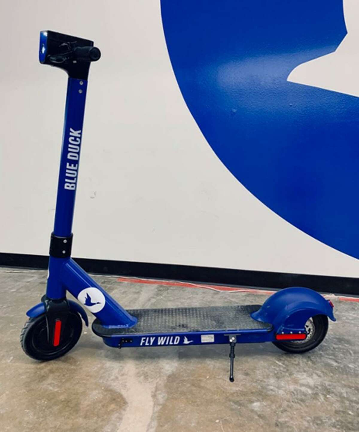 """San Antonio-based Blue Duck this week introduced a """"sturdier, safer"""" model that CEO Eric Bell hopes will distinguish the young start-up from its six other competitors here, including Lime, Lyft and Bird."""