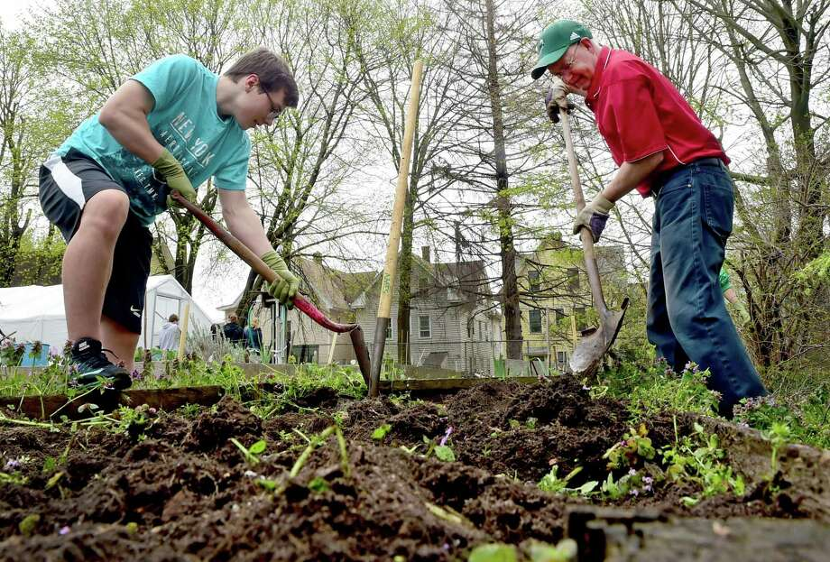 The New Haven Land Trust invites neighbors, friends, and anybody interested, to visit the gardens that members all work hard to maintain each year. The annual event is from 10 a.m. to 1 p.m. Saturday, April 6 Photo: Peter Hvizdak / Hearst Connecticut Media File Photo / ©2017 Peter Hvizdak