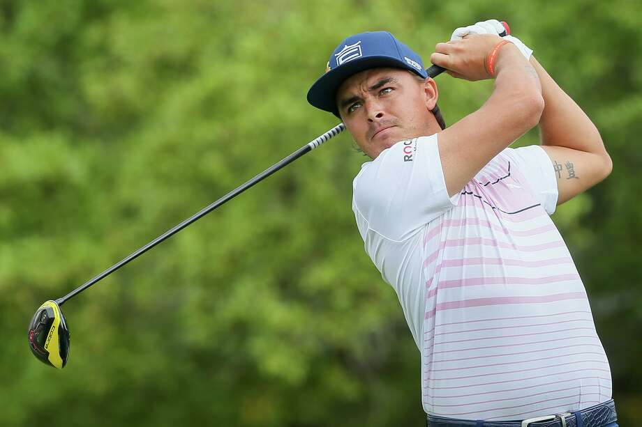 Rickie Fowler of Murietta, CA, follows his tee shot off the second hole during the first round of the Valero Texas Open at TPC San Antonio on Thursday, April 4, 2019. Fowler shot a 4-under 68 on the first day of the tournament. Photo: Marvin Pfeiffer, Staff Photographer / Express-News 2019
