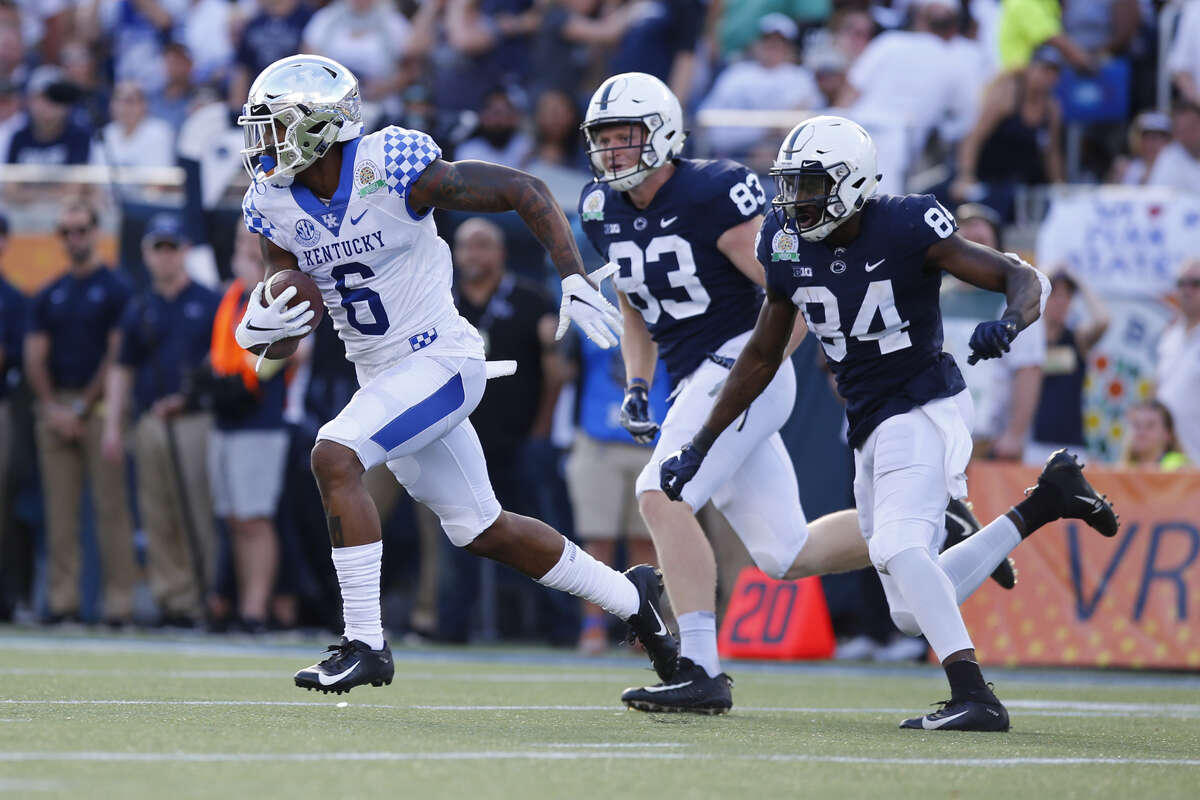 ROUND 3, NO. 84 OVERALL- CB LONNIE JOHNSON, KENTUCKY Lonnie Johnson fits the mold of corners that Pete Carroll loves: long, tall and versatile. Sort of like Richard Sherman and Tre Flowers. Johnson is listed at 6 feet 2 and 213 pounds with 32 ?...? arms. He played community college ball for two seasons before transferring to Kentucky in 2017. Johnson had 23 tackles, four pass breakups and a pick as a senior last season. The Seahawks reportedly put him through a staring contest during his interview with them at the combine.