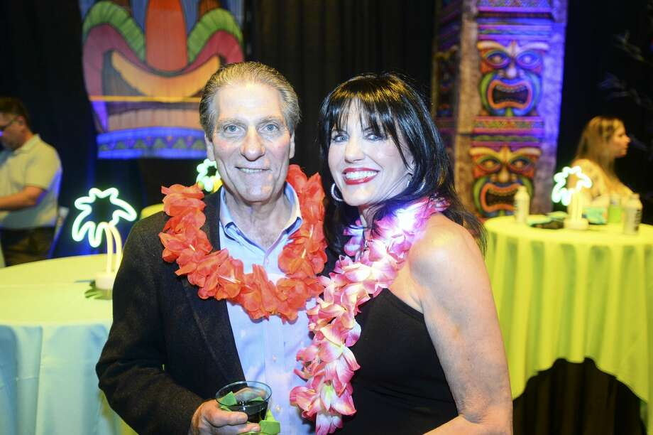 "Joseph and Sandy Fertitta during Gift of Life's Champagne & Ribs ""Survivor Reality Show"" at Beaumont's Civic Center Thursday night. Photo taken on Thursday, 04/04/19. Ryan Welch/The Enterprise Photo: Ryan Welch/The Enterprise"