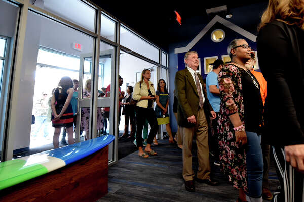 Dedication ceremony April 4, 2019, at the newly renovated Library at the Plaza, formerly called the Midland County Public Library downtown branch. James Durbin / Reporter-Telegram