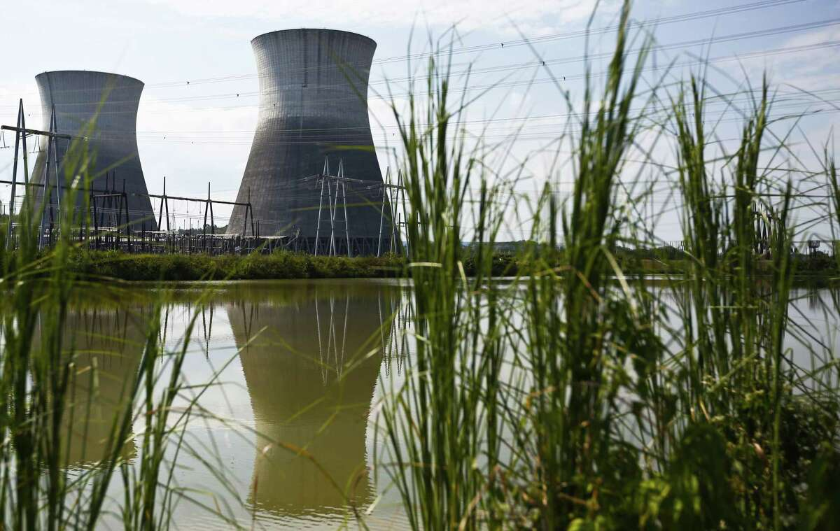 Two cooling towers outside of the Bellefonte Nuclear Plant, in Hollywood, Ala. The Tennessee Valley Authority, where Johnson was most recently CEO, sold the unfinished nuclear power plant for $111 million.