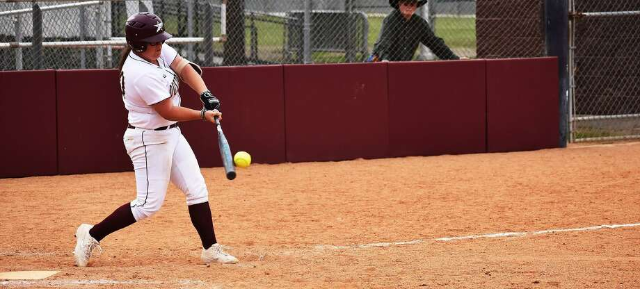 Shelby Edwards was one of three Dustdevils to hit a home run Thursday during TAMIU's 7-2 victory in Austin against St. Edward's. Photo: Courtesy Of Matthew Balderas