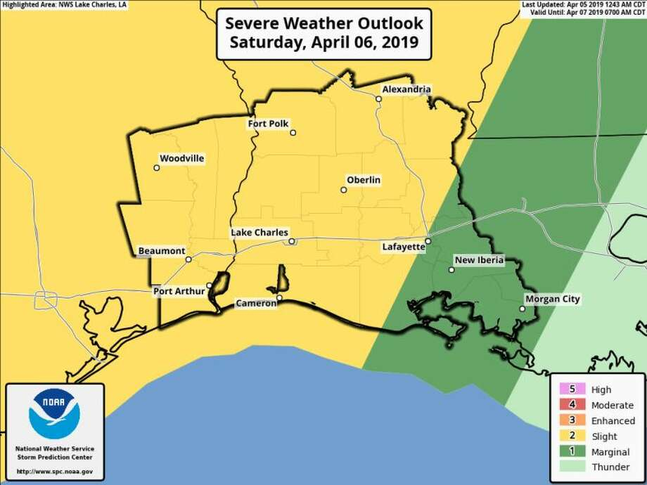 Southeast Texas could see large hail, damaging winds and isolated tornadoes this weekend. Photo: National Weather Service