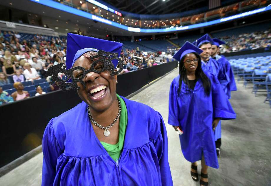 The 26th Commencement of Gateway Community College at Webster Bank Arena in Bridgeport on May 24, 2018. Photo: Arnold Gold / Hearst Connecticut Media / New Haven Register