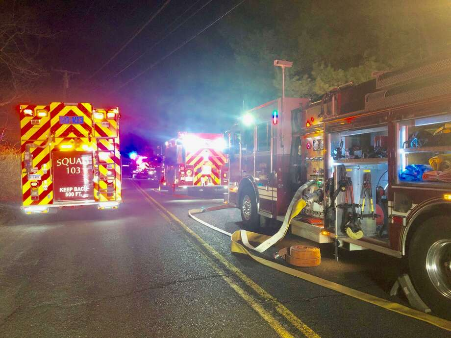 Around 9:30 p.m. on Thursday, April 4, 2019, Stevenson and Monroe firefighters were called to an activated fire alarm at Anodic Inc., a metal finishing facility at 1480 Monroe Turnpike. Upon arrival, the building was full of a haze and given the chemicals stored within the facility, additional crews were called. The source was found to be a broken freon pipe and the building was ventilated by firefighters using smoke ejectors. Photo: Monroe Fire Department Photo