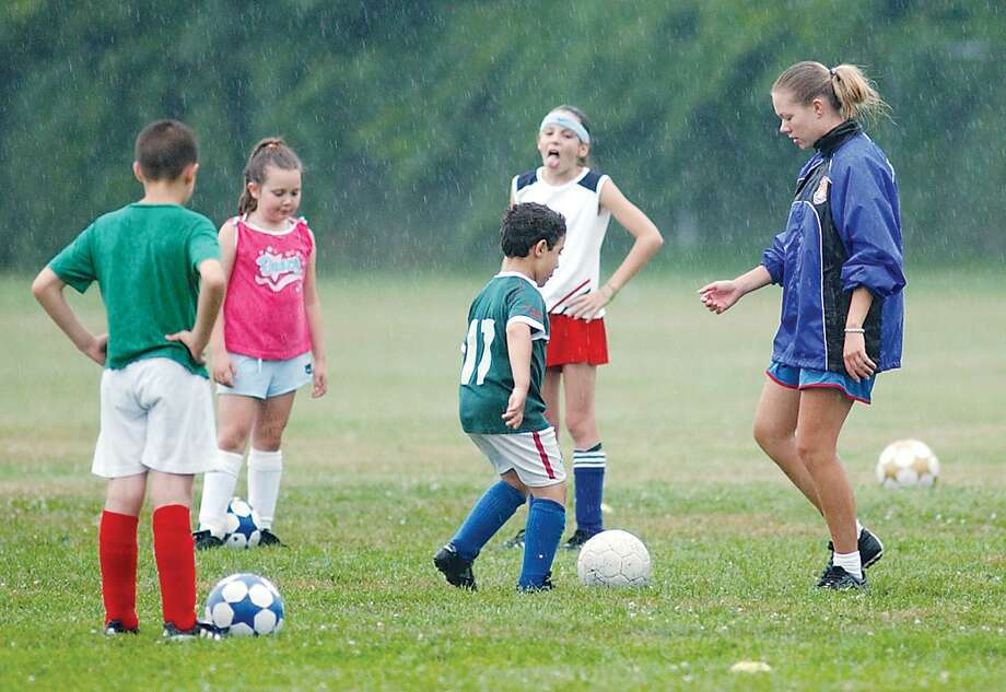 Participants work through drills at a Middletown Youth Soccer sports camp. Photo: File Photo