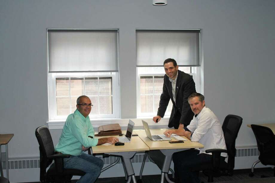 The Middlesex County Chamber of Commerce offers a co-working space above its Main Street office for use by the region's entrepreneur community. Photo: Contributed Photo