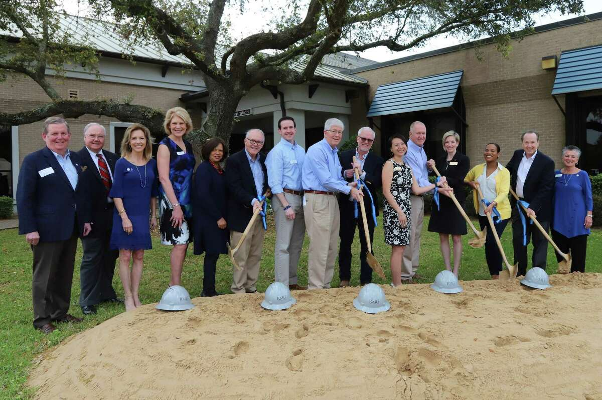 Breaking ground on Child Advocates of Fort Bend's new Davis George Campus are CAFB Board Members with representatives from The Henderson-Wessendorff Foundation, The George Foundation, Gulf Coast Medical Foundation, Sprint Waste and the Houston Endowment. From left are: Dave Johnston, Jim Lockwood, Child Advocates of Fort Bend CEO Ruthanne Mefford, For The Children's Sake Campaign Chair Nancy Olson, Valerie Golden, Jack H. Moore, Mike Smith, Lane Ward, Dave Nelson, Quynh-Anh McMahan, Tom McNutt, Ammie Blahuta, Tonyel Edwards, Jim McClellan and Child Advocates of Fort Bend Board President Pat Somers.