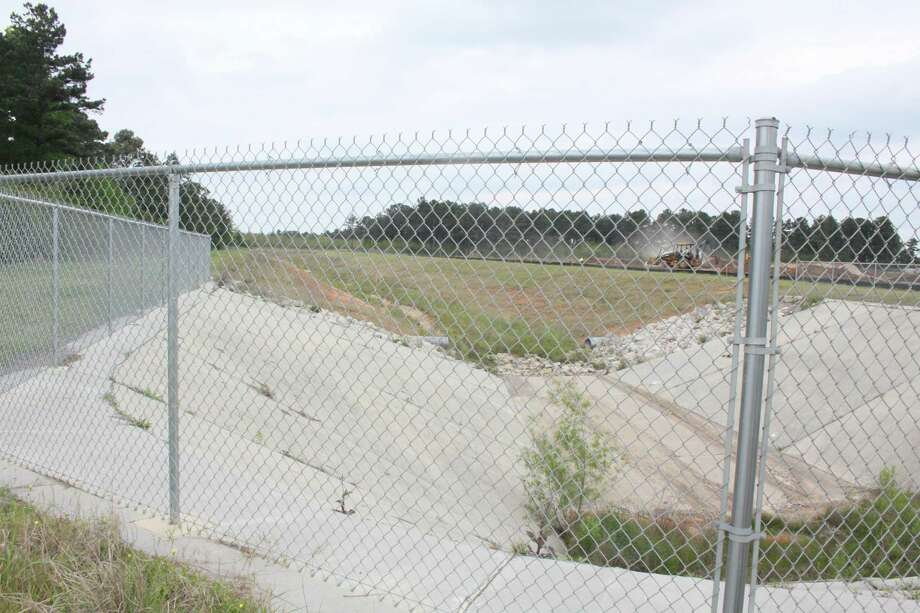 The M118 channel as seen from Holderrieth Road. Tomball has been digging out portions of the channel since 2003. Photo: Mayra Cruz