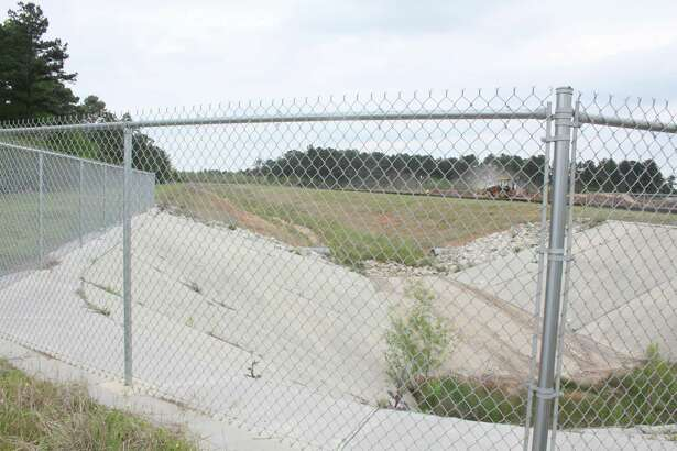 The M118 channel as seen from Holderrieth Road. Tomball has been digging out portions of the channel since 2003.