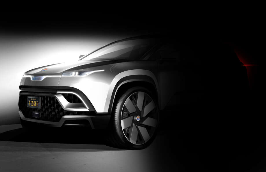 A teaser of Fisker's new all-electric SUV model. Photo: Provided By Fisker Inc.