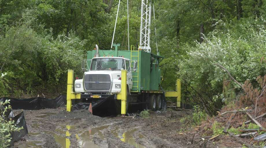 File photo of a drill rig at the site of test well for the Bethel water system on Wednesday, July 25, 2018, in Bethel, Conn. Photo: H John Voorhees III / Hearst Connecticut Media / The News-Times