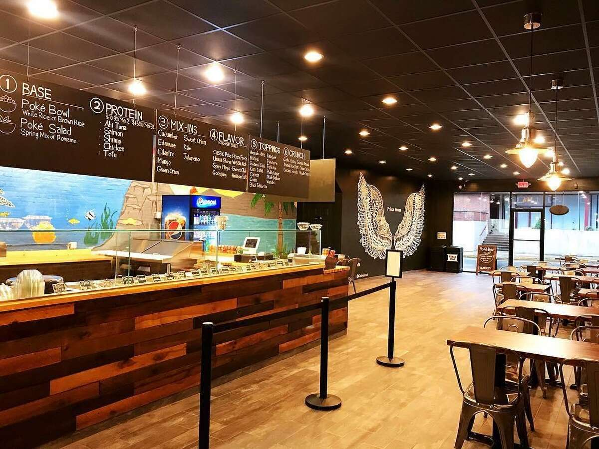 The interior of Prince House, a poke bowl luncheon place on Court Street in Middletown
