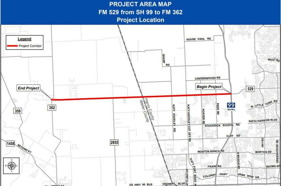 The Texas Department of Transportation is proposing to widen FM 529 between the Grand Parkway and FM 362. The project is the subject of an April 30 public meeting at  Paetow High School ninth-grade center. Photo: Texas Department Of Public Safety / Texas Department Of Public Safety