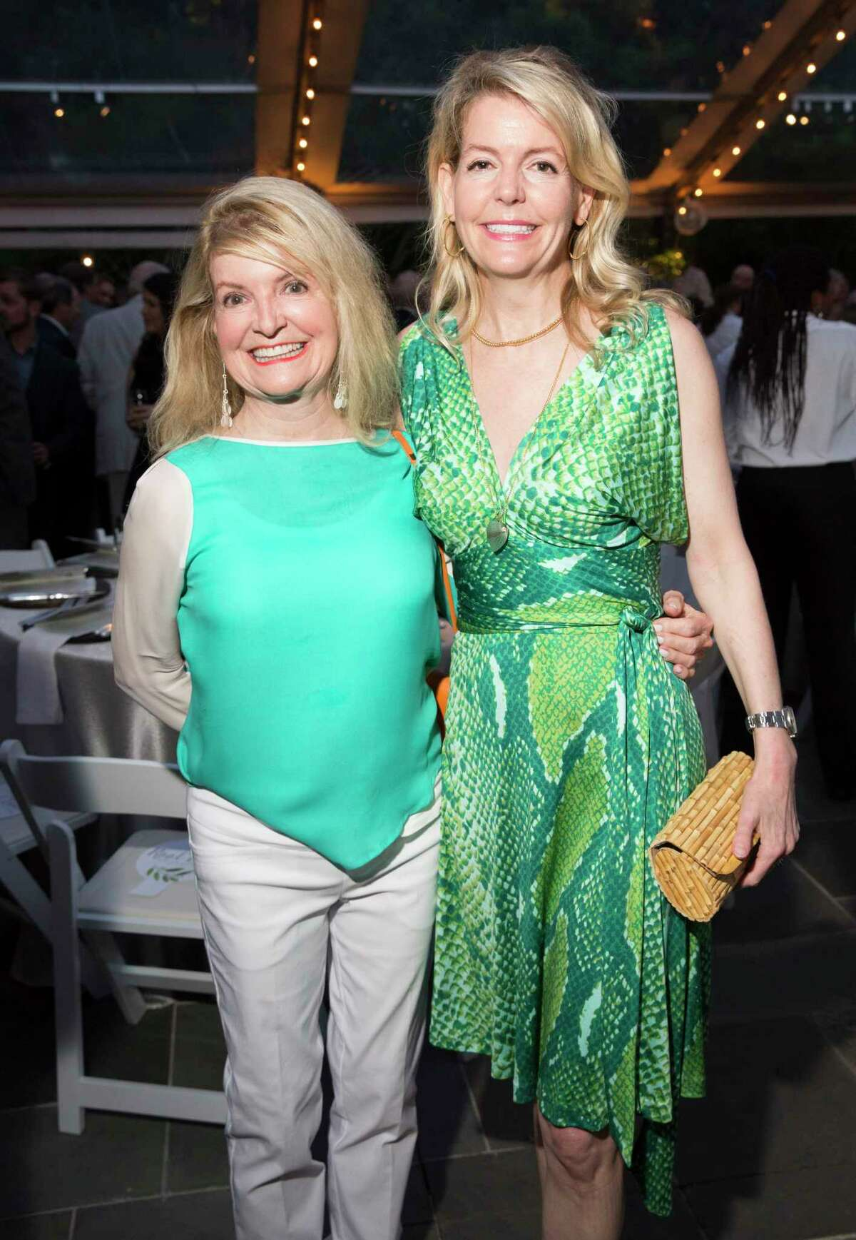 Cora Bess Meyer, left, pose for a photograph with daughter, Michelle Foutch, at the 25th Annual Trees for Houston Root Ball at The Bayou Club on Thursday, April 4, 2019, in Houston.