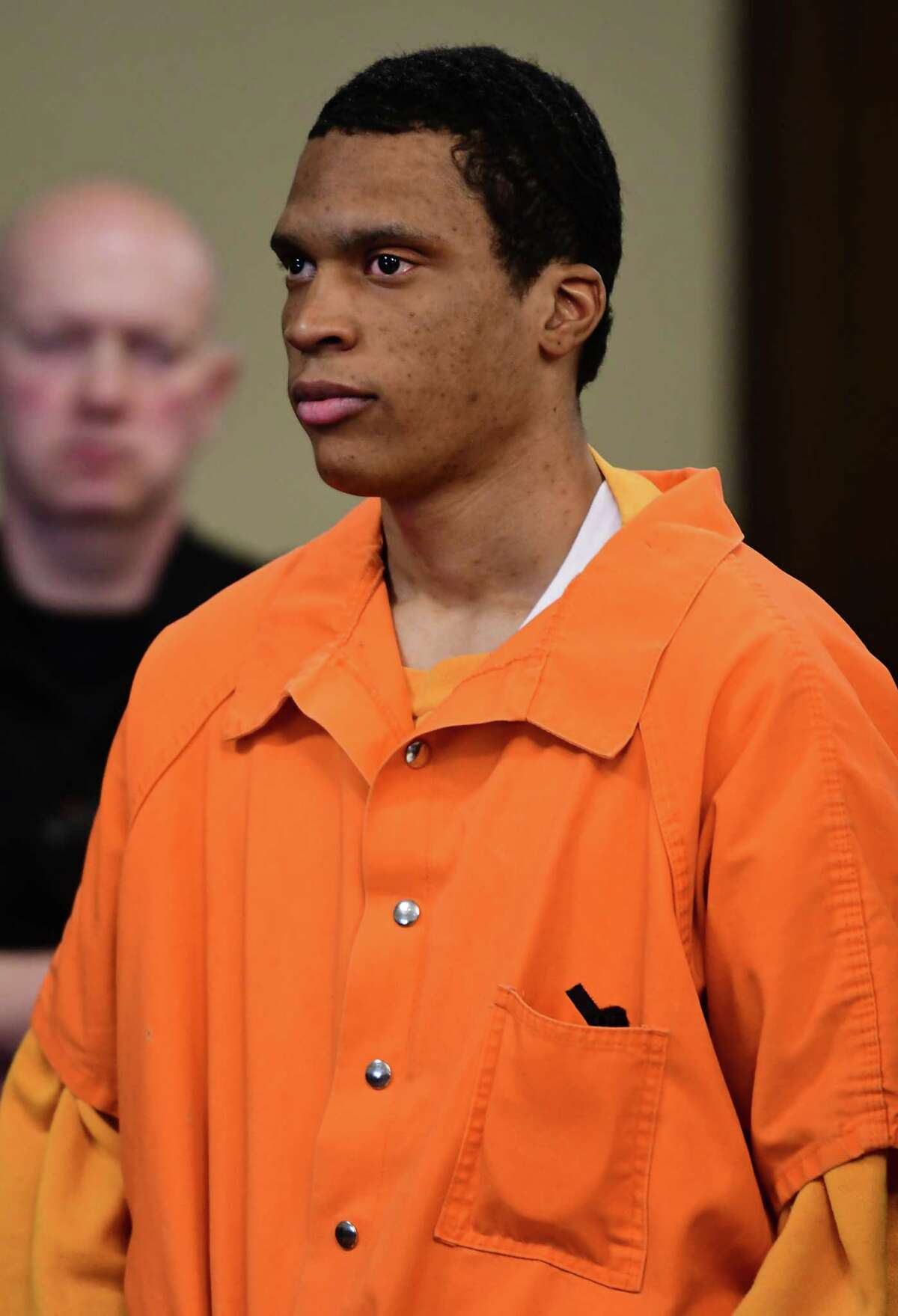 Justin Mann, 26, testified Friday at the murder trial of former co-defendant James White who faces life in prison without possibility of parole if he is convicted of killing two women and two children two years ago in Troy's Lansingburgh. (Lori Van Buren/Times Union)