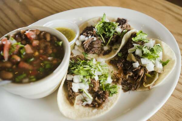 Pictured is a plate of street tacos made with beef machaca from La Suprema on Wednesday. La Suprema is the focus of the cat5 Restaurant of the Week for July 16, 2015. The family-owned restaurant has been a Nederland staple since opening in 1970. Photo taken Wednesday 7/8/15 Jake Daniels/The Enterprise