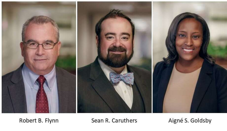 The law firm of Neubert, Pepe & Monteith, P.C. recently welcomed attorneys Robert B. Flynn of Middletown, Sean R. Caruthers of New Haven and Aigné S. Goldsby of Middletown. Photo: Contributed Photo