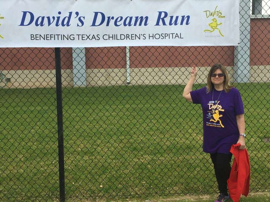 Kris Nordstrom McBride, Conroe Rotarian and a volunteer at Texas Children's Hospital, at The David's Dream Run at David Elementary School in Conroe ISD, on March 30. Photo: Courtesy Photo