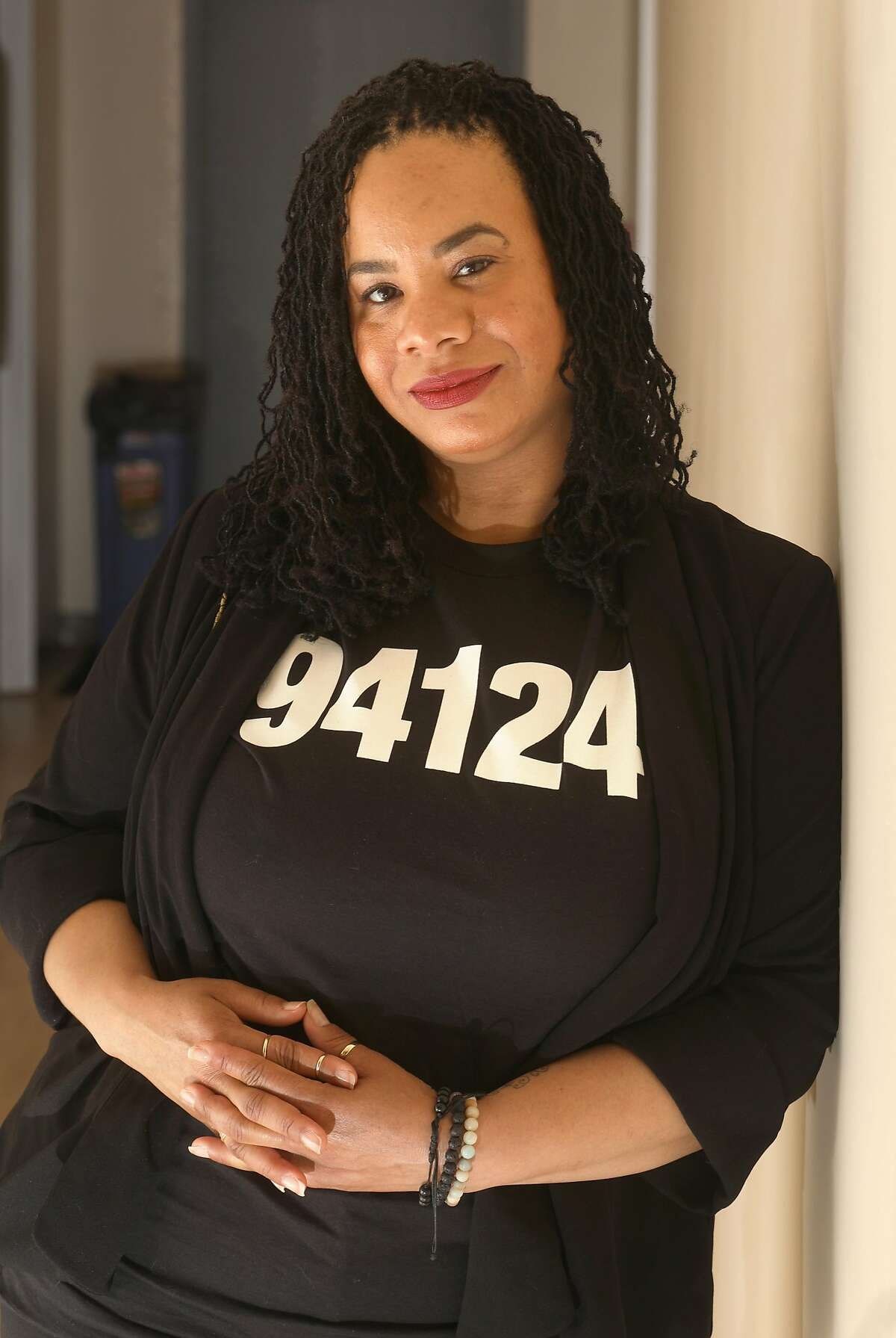 Marna Armstead has been working as a doula for 13 years on Friday, March 29, 2019, in San Francisco, Calif. Last year she created a nonprofit called SisterWeb to train more doulas of color to work in her new Bayview neighborhood office.