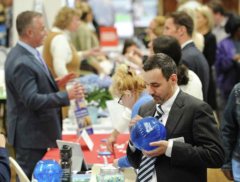 The Greenwich Chamber of Commerce Business Showcase, seen here in 2017, will return on April 25 at the Eastern Greenwich Civic Center. Close to 75 vendors are expected to take part and tickets for the general public are available now. Photo: File / Hearst Connecticut Media / Greenwich Time