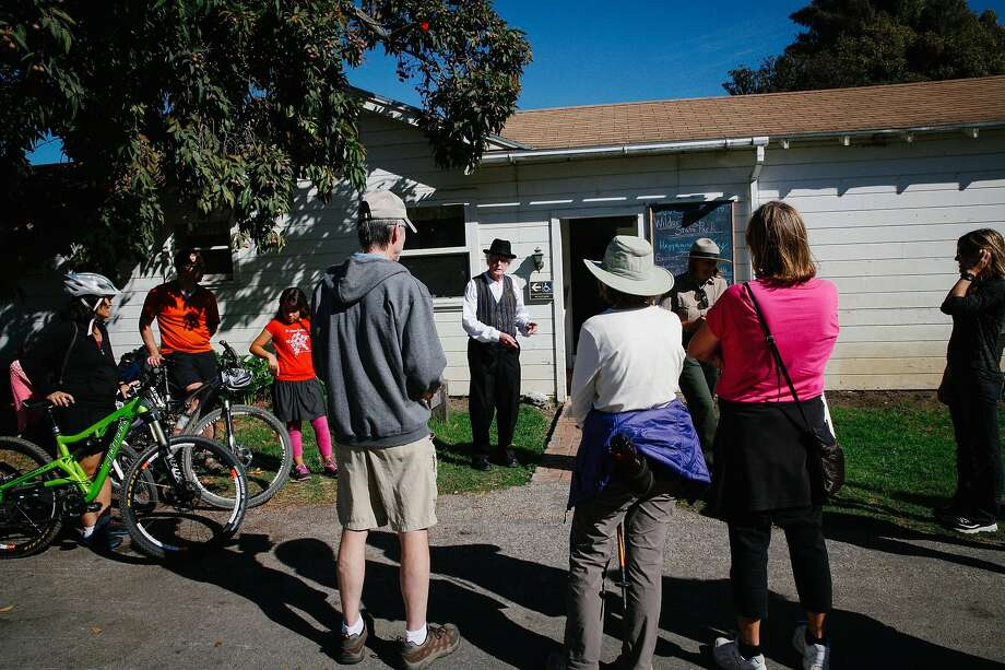 Docent Paul Sherrill leads guests on a tour at Wilder Ranch State Park in Santa Cruz, Calif. Photo: Sarah Rice / Special To The Chronicle