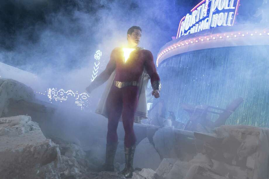 "This image released by Warner Bros. shows Zachary Levi in a scene from ""Shazam!"" Photo: Steve Wilkie / Associated Press / © 2018 Warner Bros. Entertainment Inc."