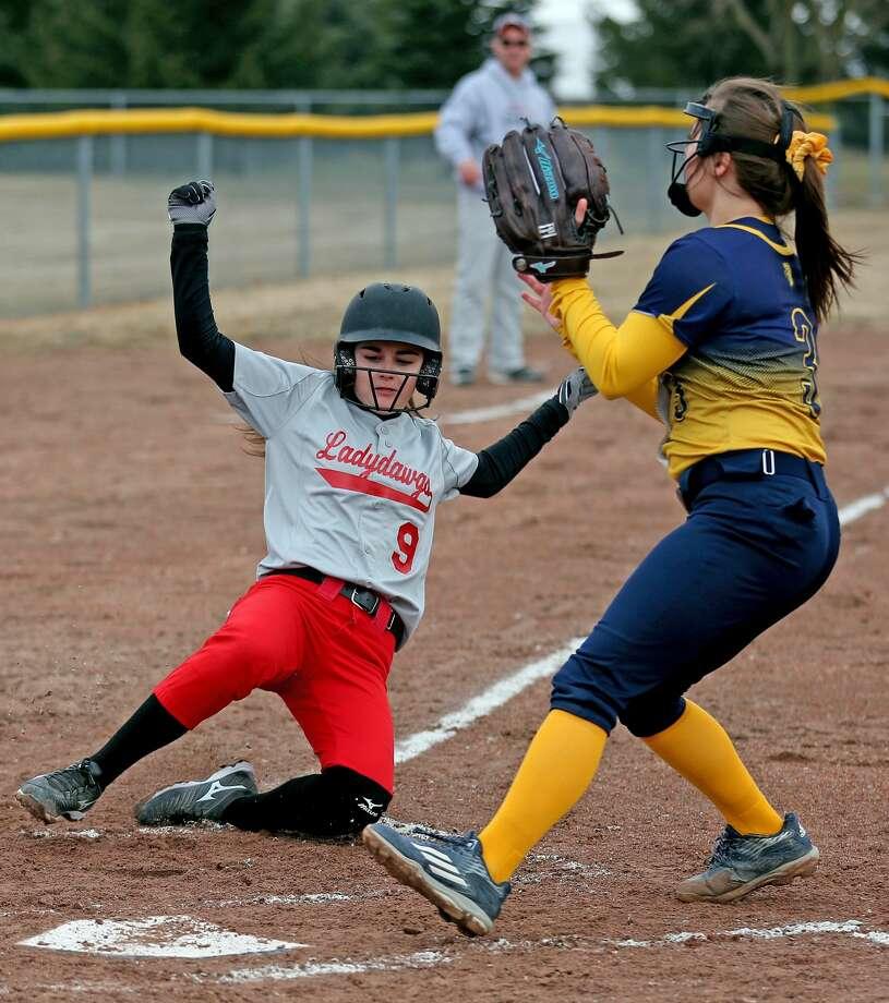 North Huron at Owen-Gage — Softball Photo: Paul P. Adams/Huron Daily Tribune