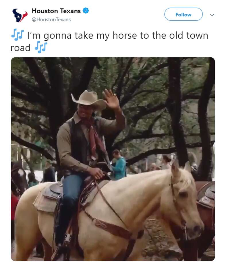 Source: Twitter Browse through the images for some of the best memes and reactions to the Old Town Road Remix. Photo: Source: Twitter