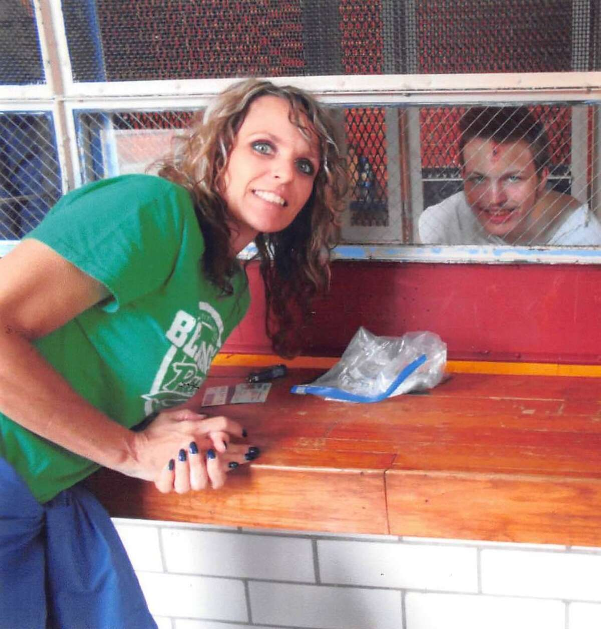 Keri Womack poses with her son Sawyer Letcher, who killed himself while locked up in a Texas prison.