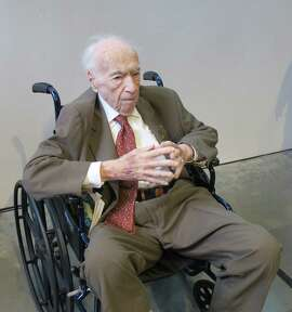 Peter Selz at his 100th birthday party