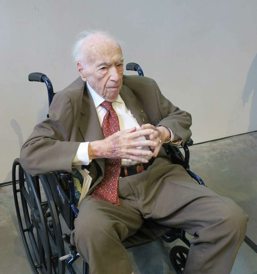 Peter Selz at his 100th birthday party Photo: Ann Wiens / BAMPFA