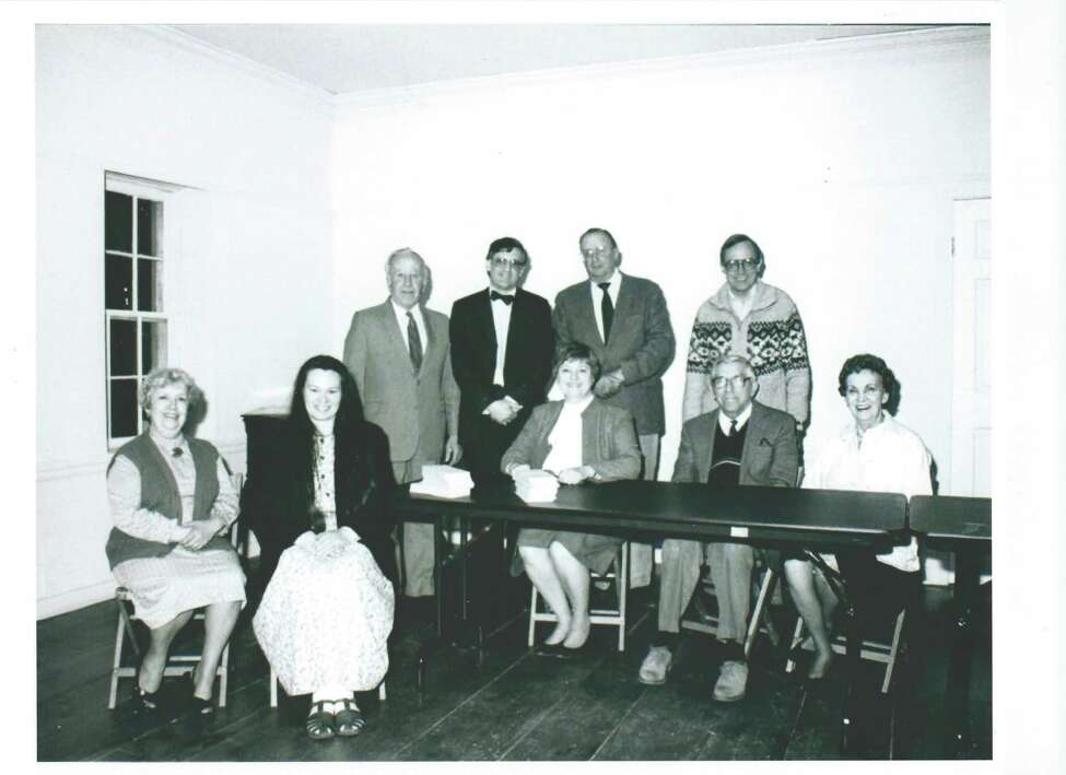 The original Friends of Grant Cottage Board of Trustees, as seen 30 years ago where they met at Brookside Museum in Ballston Spa on the occasion of the Friends of the Ulysses S. Grant Cottage's first annual meeting held on April 16, 1991. The following members were elected to serve on the Friends' Board of Trustees, from left, seated: Lorraine Westcott, Melissa Trombley-Prosch, Ellen deLalla, Frank Jones, Jeanne Jones. Standing: Albert Lounsbury, Thomas Lewis, Judd Grey, Thomas Hughes.