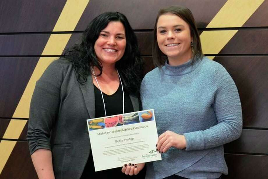Becky Hortop, market Manager for City Market, recently completed the 2019 Michigan Farmers Market Association Market Manager Certificate Program. (Photo provided)