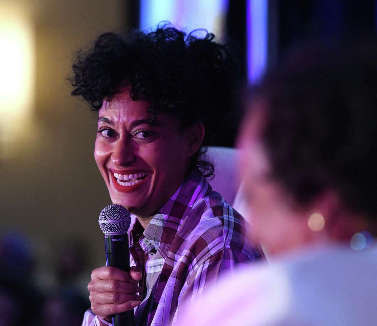 Tracee Ellis Ross delivers the keynote conversation during Fairfield County's Community Foundation Fund for Women & Girls annual luncheon at the Hyatt Regency in Old Greenwich Thursday.