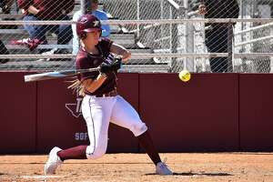 Senior Lindsey Smith hit an extra-inning walk-off homer to lift TAMIU to a 3-2 win over Rogers State in an elimination game Thursday in the Heartland Conference tournament. The Dustdevils lost the opener 6-5 to Lubbock Christian.