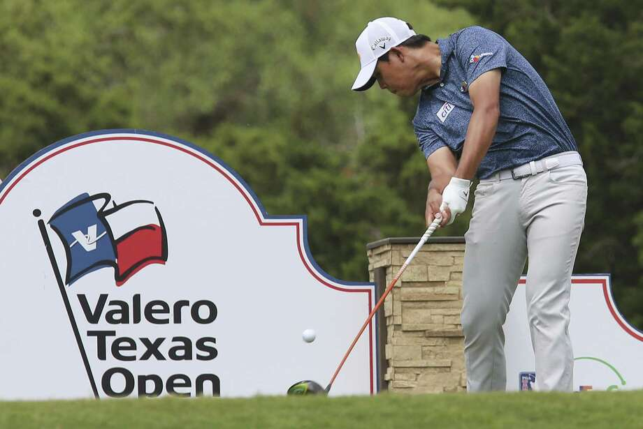 Si Woo Kim tees off from the 11th tee box during the third round of the 2019 Valero Texas Open at TPC San Antonio on Saturday, Apr. 6, 2019. (Kin Man Hui/San Antonio Express-News) Photo: Kin Man Hui, Staff / Staff Photographer / ©2019 San Antonio Express-News
