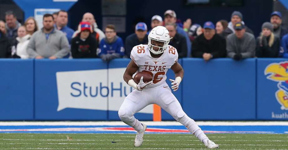 LAWRENCE, KS - NOVEMBER 23: Texas Longhorns running back Keaontay Ingram (26) during a Big 12 football game between the Texas Longhorns and Kansas Jayhawks on November 23, 2018 at Memorial Stadium in Lawrence, KS.  (Photo by Scott Winters/Icon Sportswire via Getty Images) Photo: Icon Sportswire/Icon Sportswire Via Getty Images
