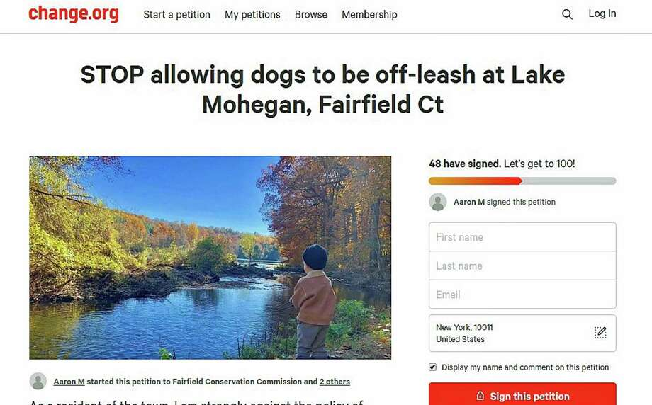 A screenshot of the petition as it appears on the site change.org. A Fairfield, Conn., resident started the petition on Thursday, April 4, 2019. Photo: Contributed Photo / Contributed Photo / Connecticut Post Contributed