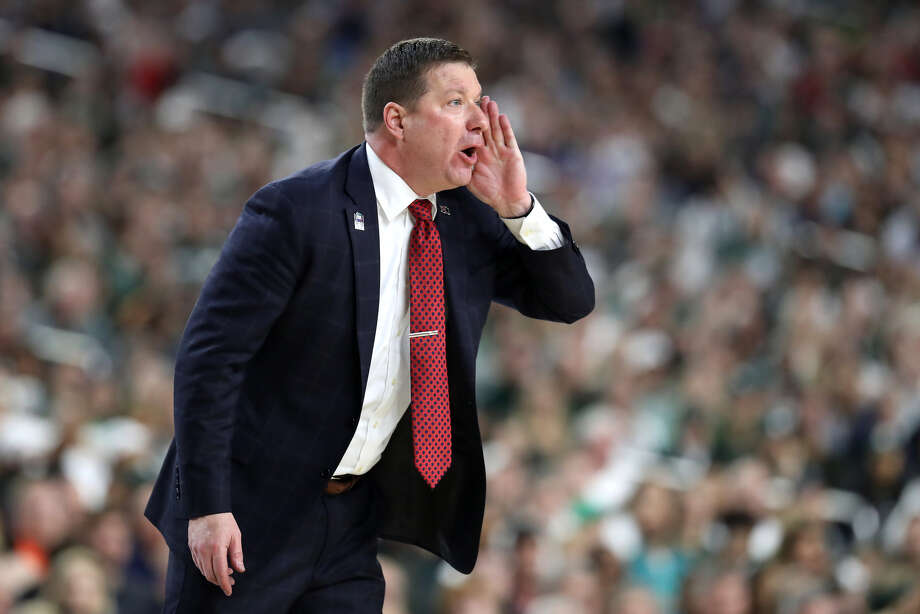 Head coach Chris Beard of the Texas Tech Red Raiders reacts in the second half against the Michigan State Spartans during the 2019 NCAA Final Four semifinal at U.S. Bank Stadium on April 6, 2019 in Minneapolis, Minnesota. (Photo by Streeter Lecka/Getty Images) Photo: Getty Images