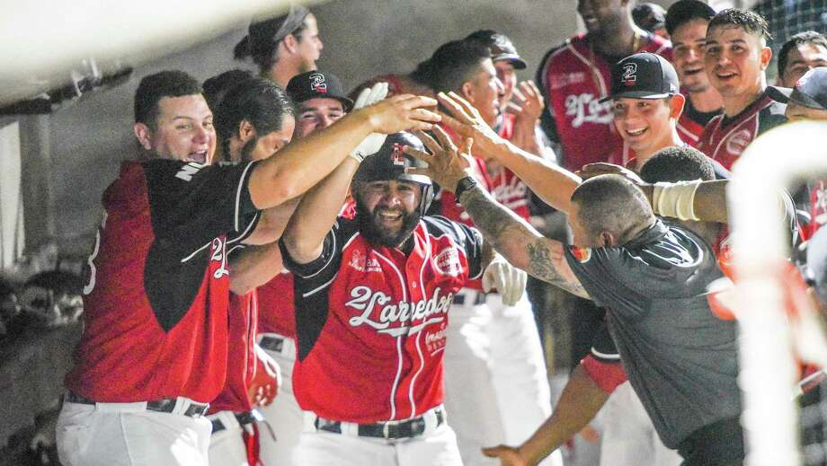 Luis Flores hit one of the Tecolotes' two home runs in a 10-1 victory in their Uni-Trade Stadium home opener against Algodoneros de Union Laguna. Photo: Danny Zaragoza /Laredo Morning Times